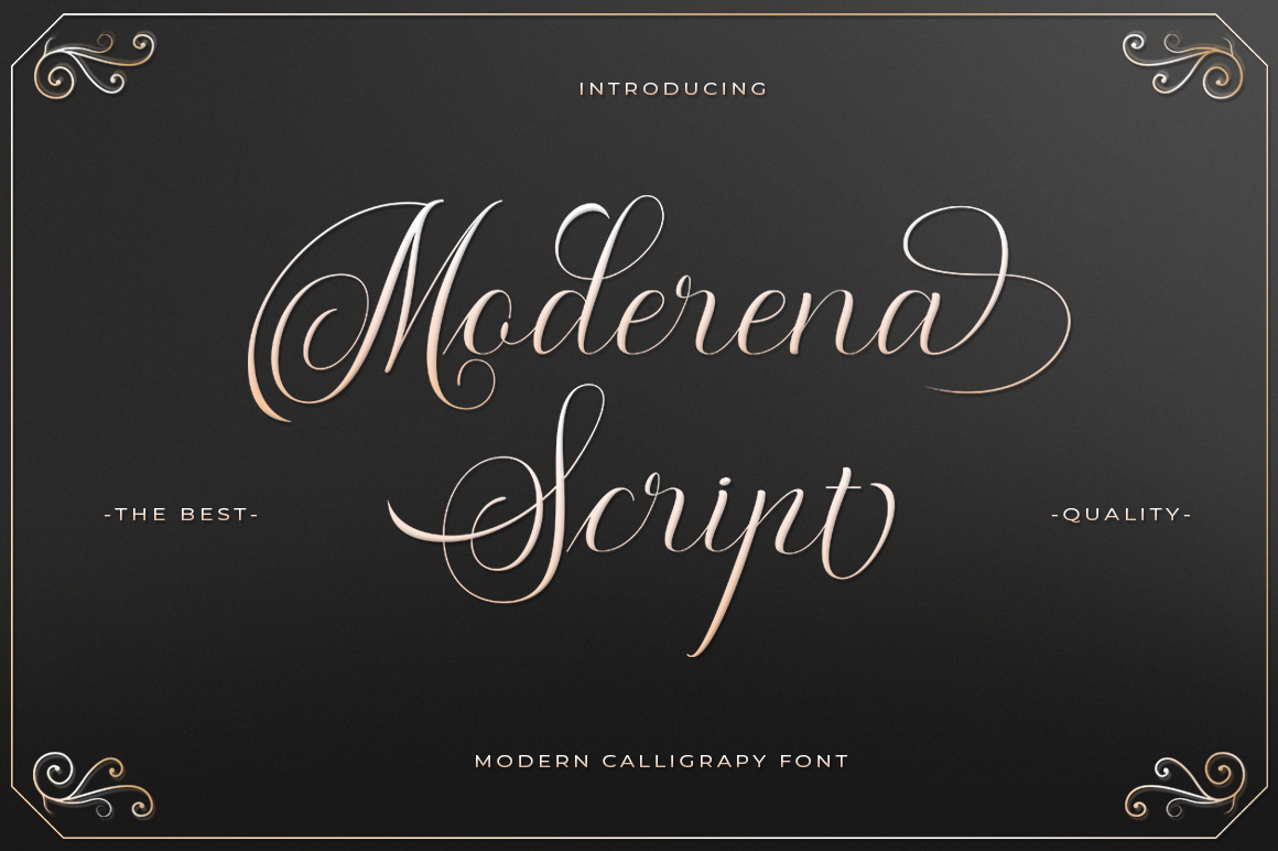 Moderena Script || 3 Style example image 1