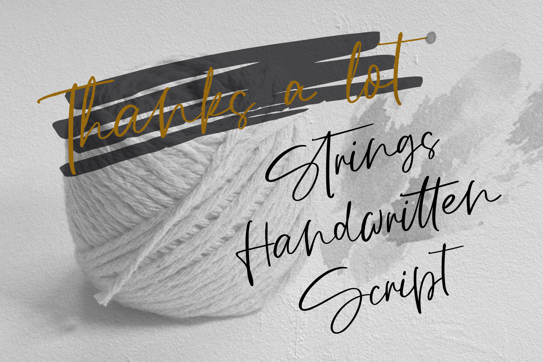 Strings // Handwritten Script Font example image 10