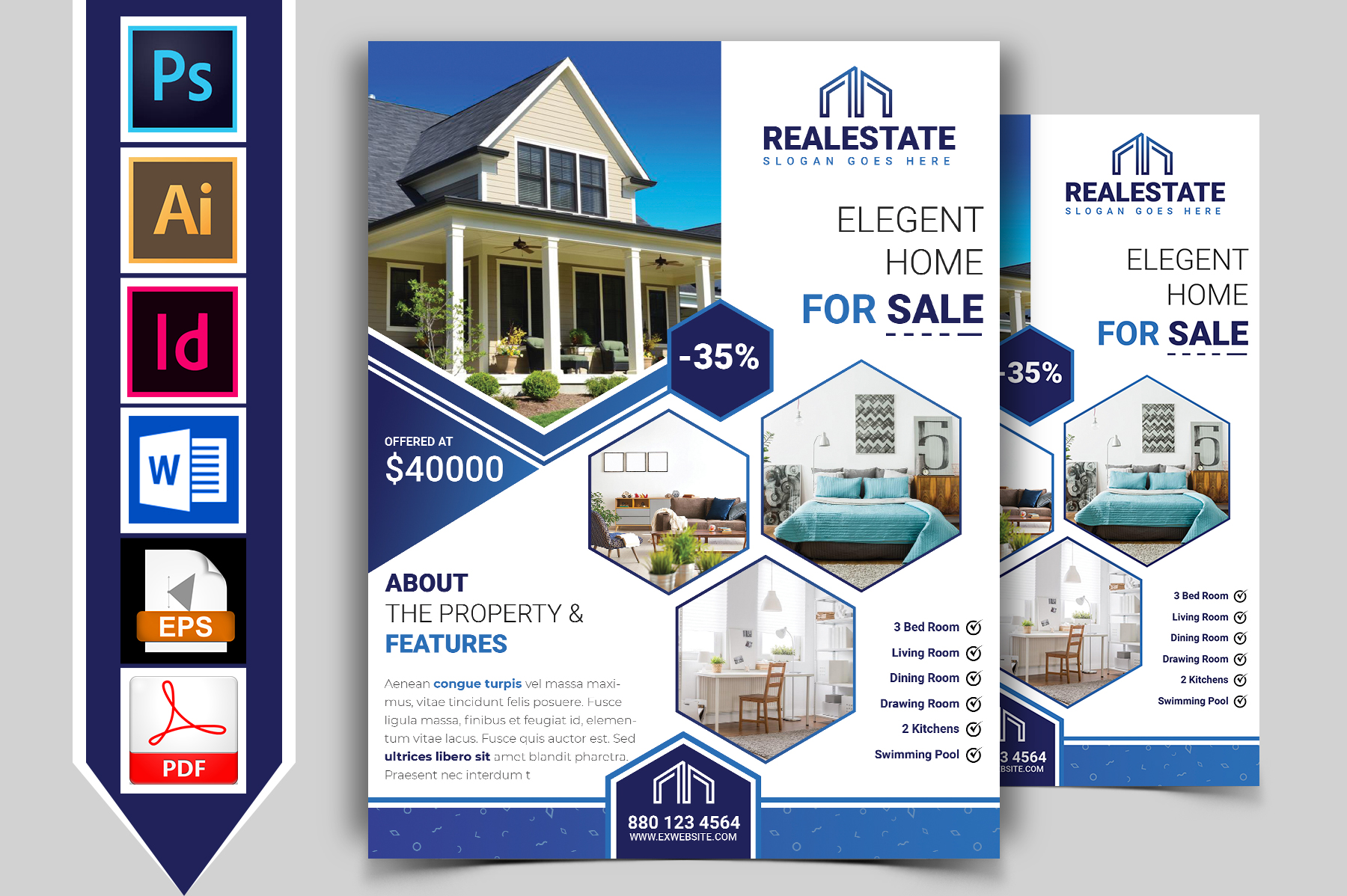 Real Estate Flyer Vol-01 example image 1