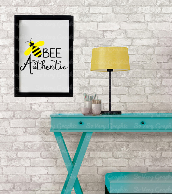 Bee Authentic | Cut File SVG | PNG Printable | Honey Bees example image 5