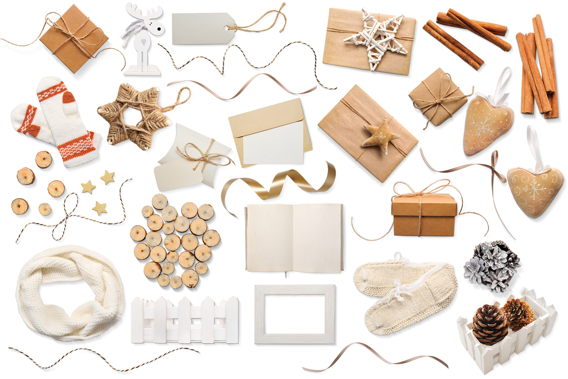 Christmas scene creator, isolated items example image 2