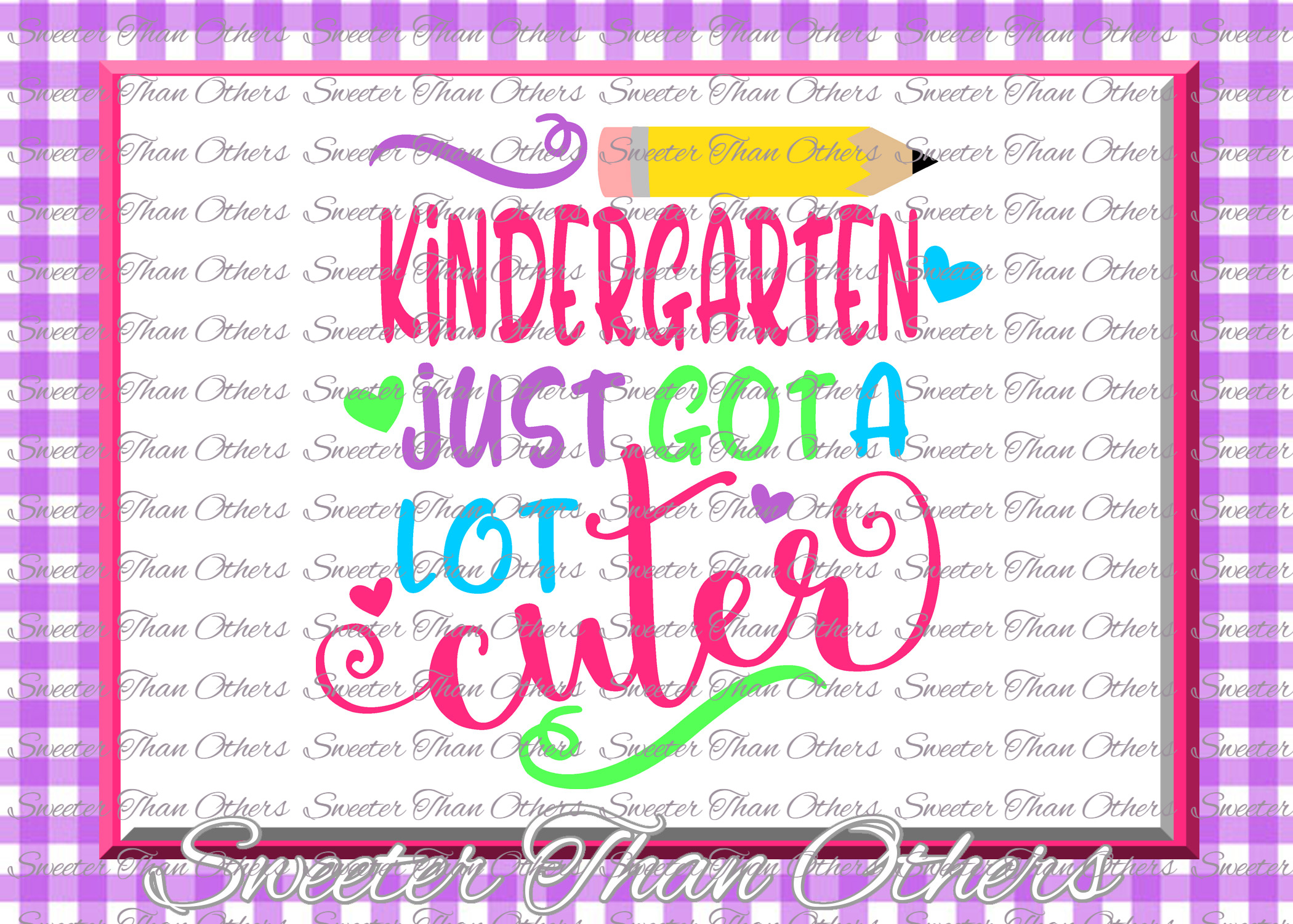 Kindergarten Cuter SVG Kinder Grade cut file First Day of Sc example image 1