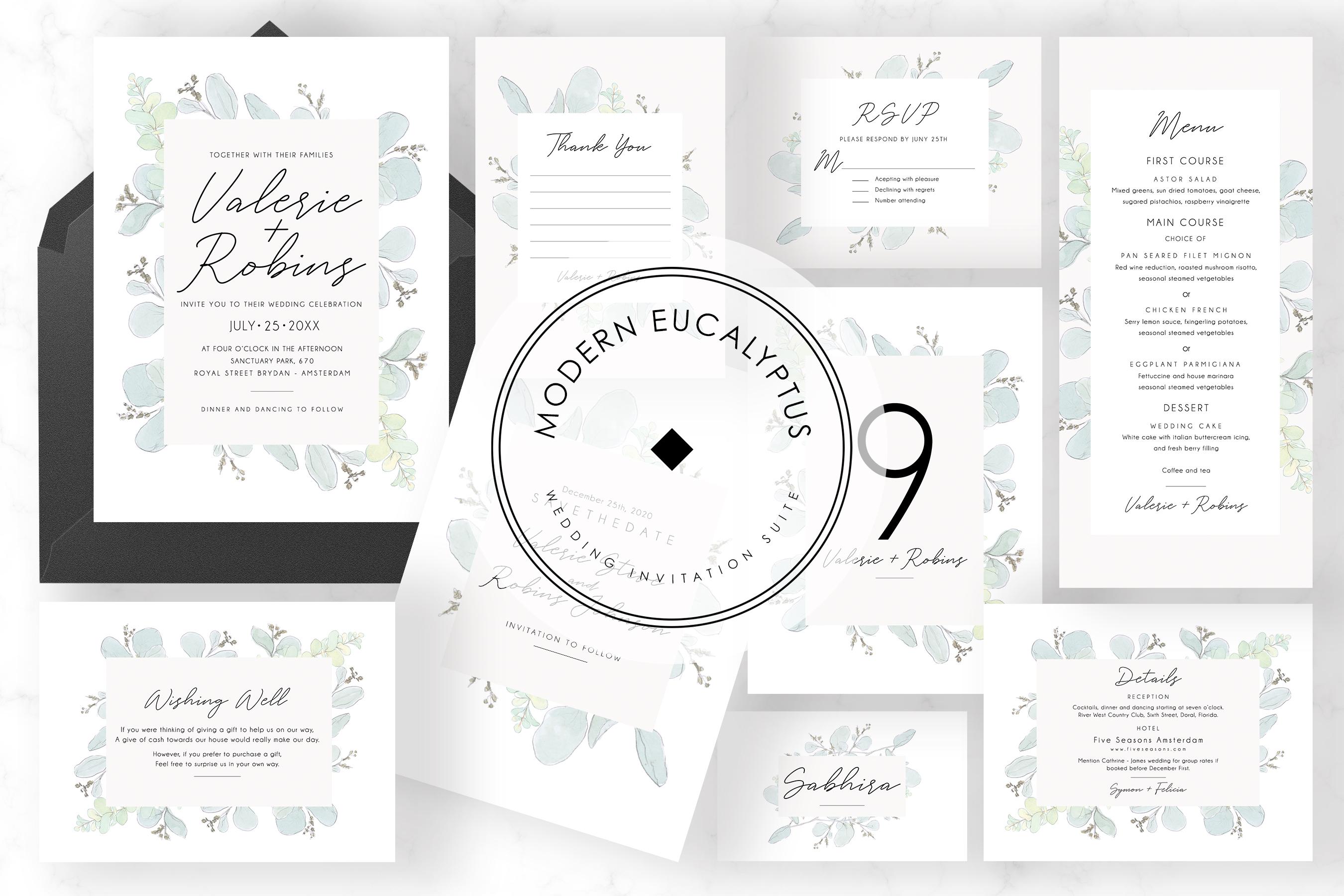 Modern Eucalyptus Wedding Suite example image 1