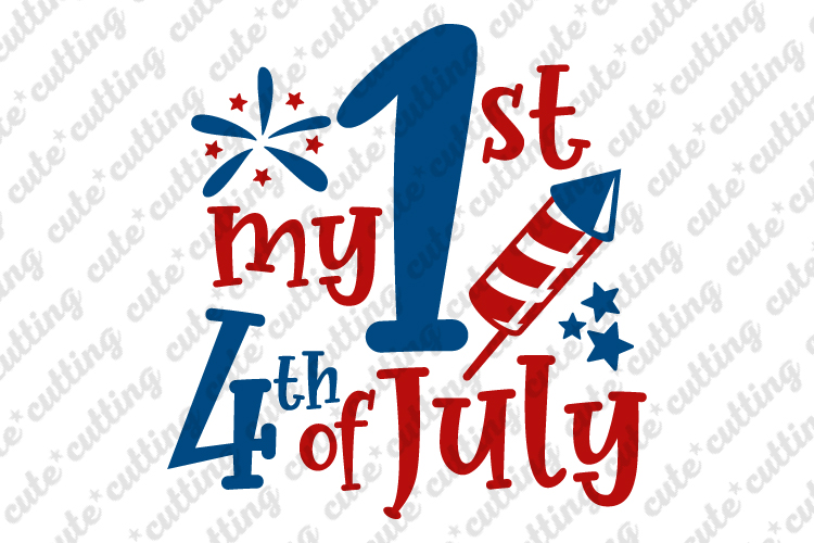 4th of july ,Fourth Of July , 1st 4th of July svg, dxf, png example image 1