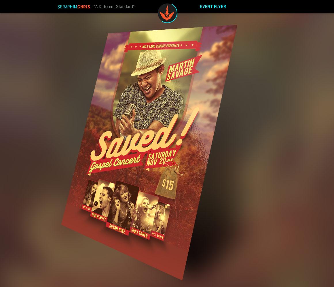 Saved Gospel Concert Flyer Template example image 2