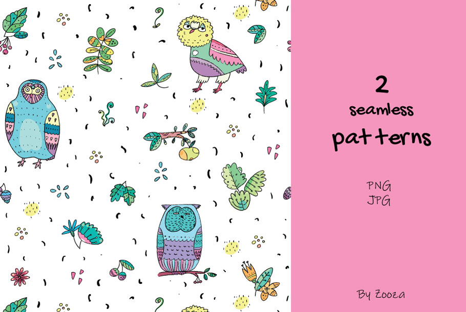 Funny Owls Bundle - 3 collections in 1 pack example image 8