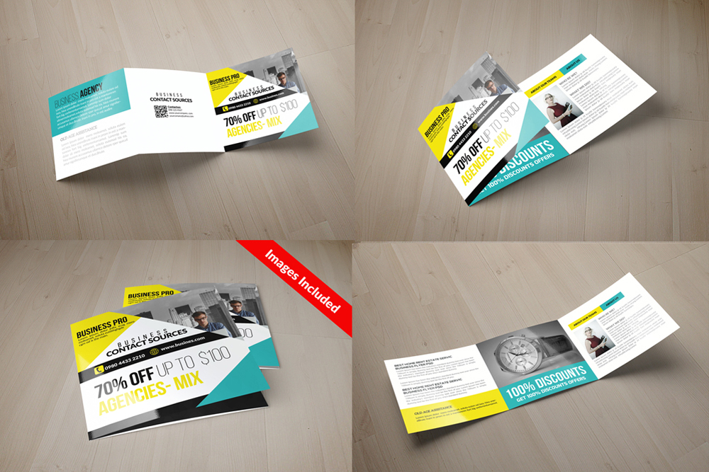 25 Square Trifold Business Brochures Bundle example image 22