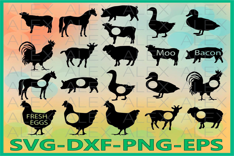 Farm Svg Files, Farm Monogram, Monogram Farm Cut Out example image 1
