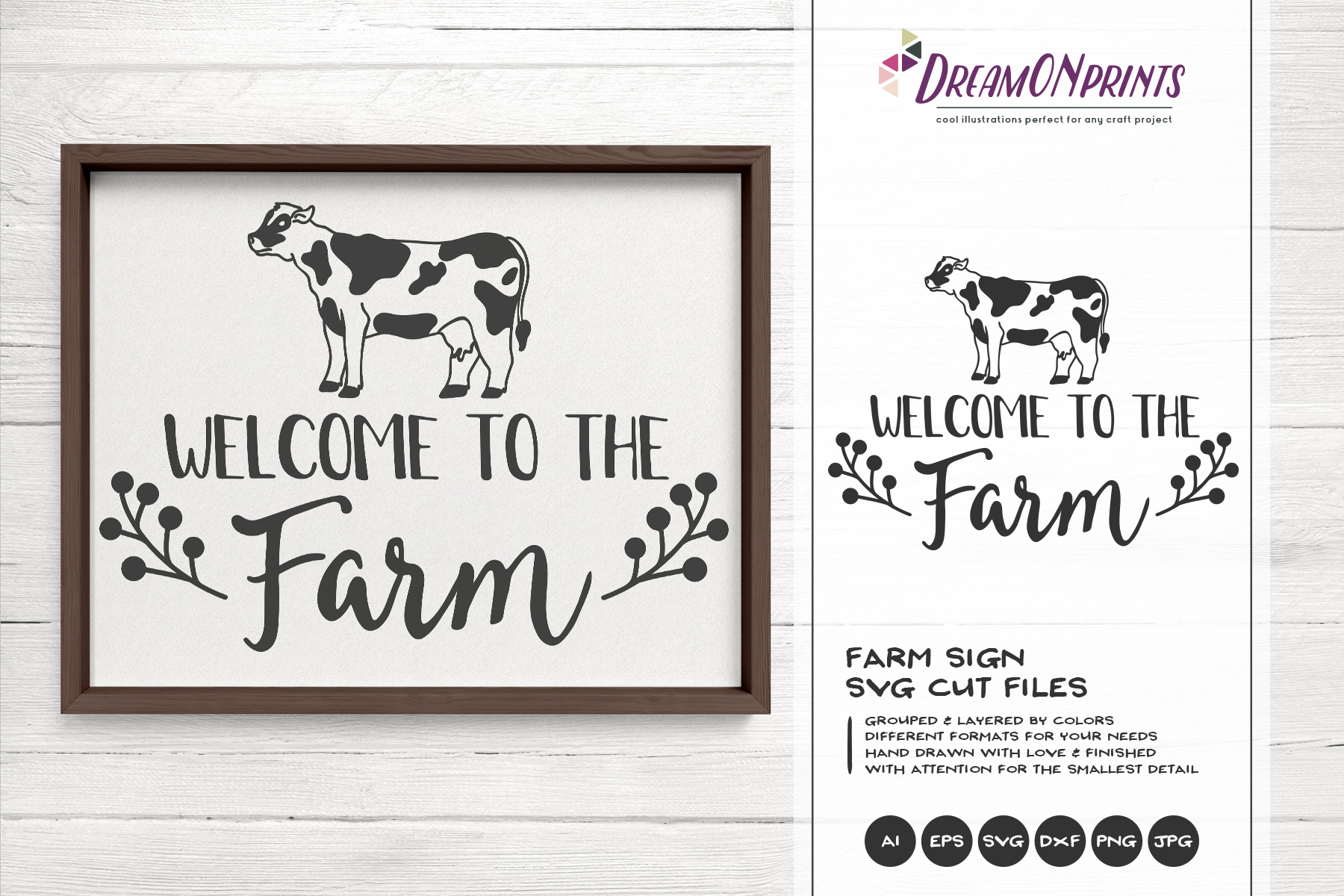 Welcome to the Farm SVG - Cow SVG Cut Files example image 1