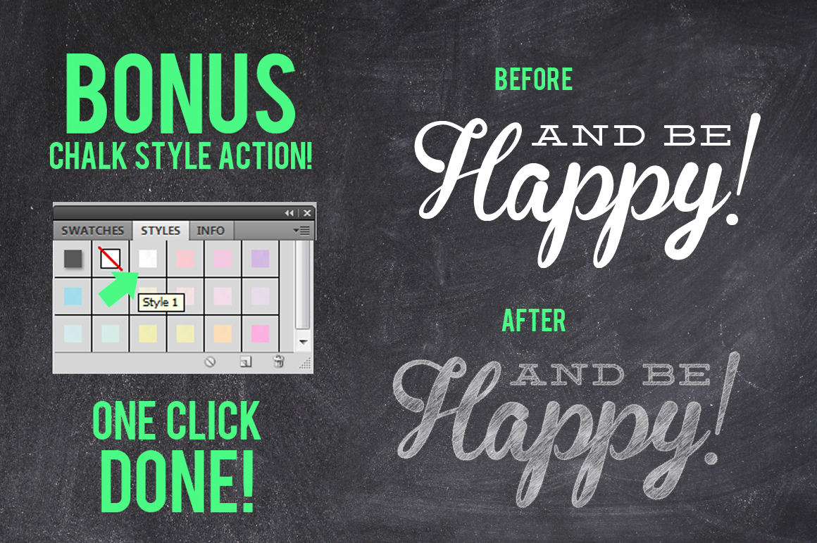 Eat Drink Be Happy Chalk Invite example image 2