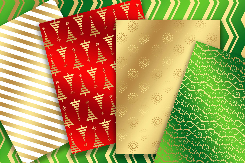 Gold Metallic Christmas background 8, 5 x 11 inch example image 3