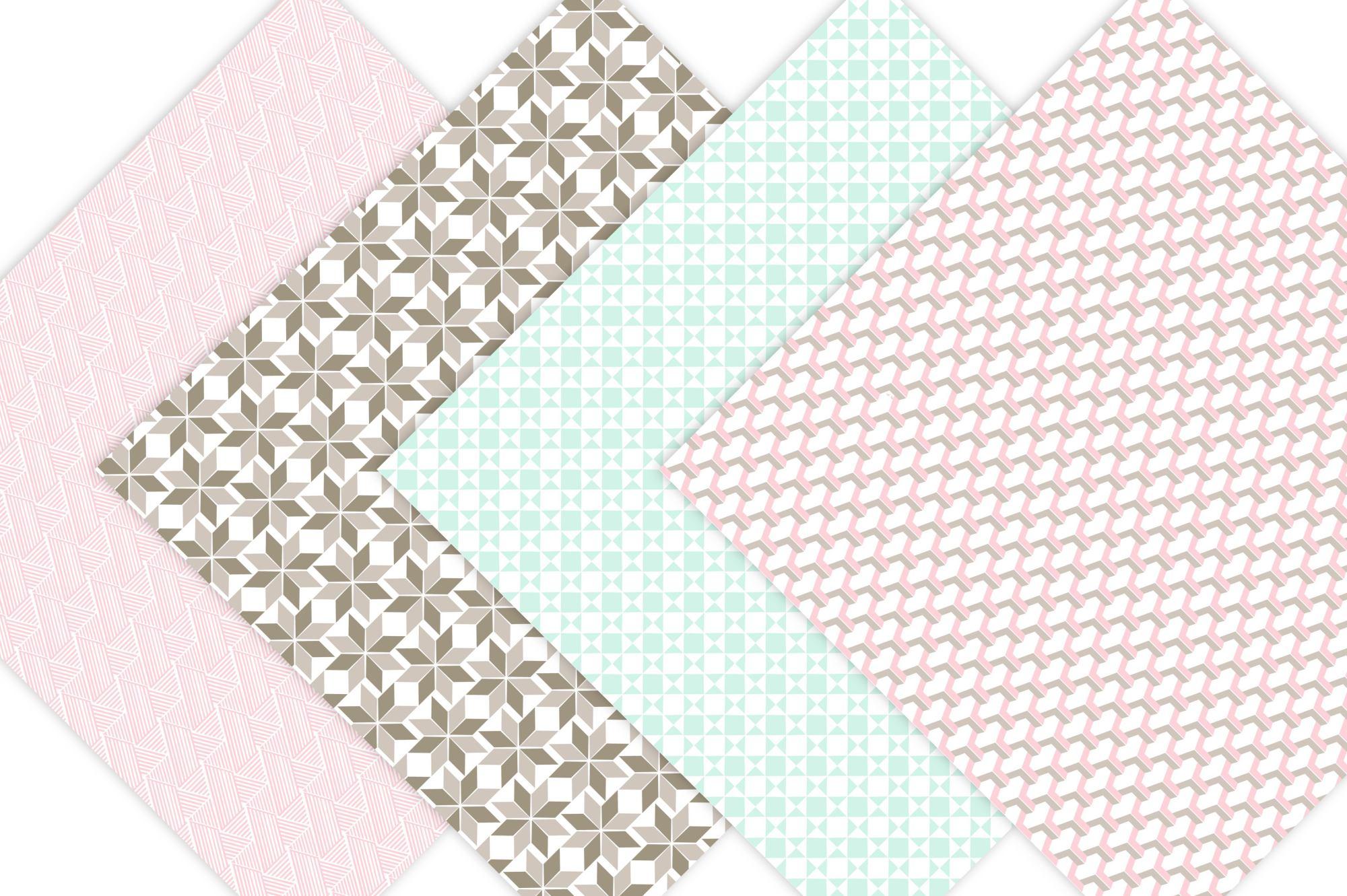 Geometric Digital Paper Patterns example image 3