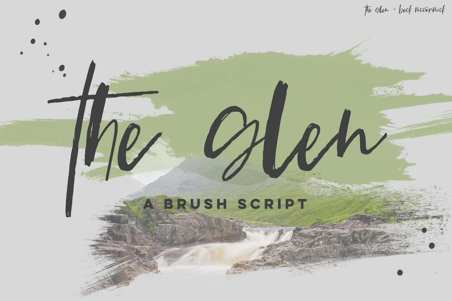 The Glen Brush Script example image 1