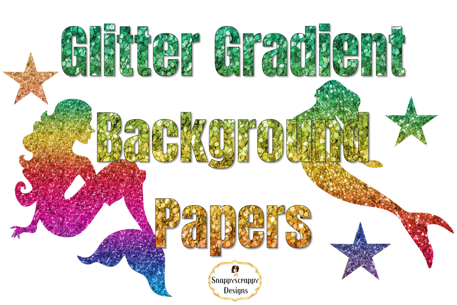 Glitter Gradient Background Papers example image 2