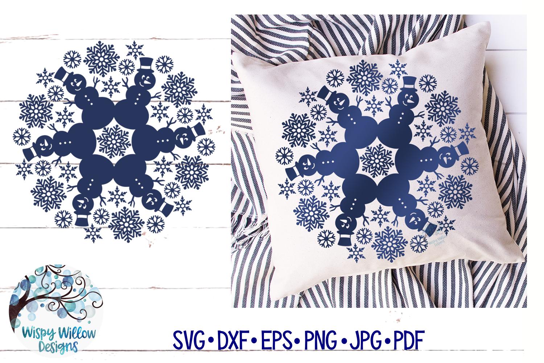 Snowman Mandala SVG | Winter Mandala SVG Cut File example image 2