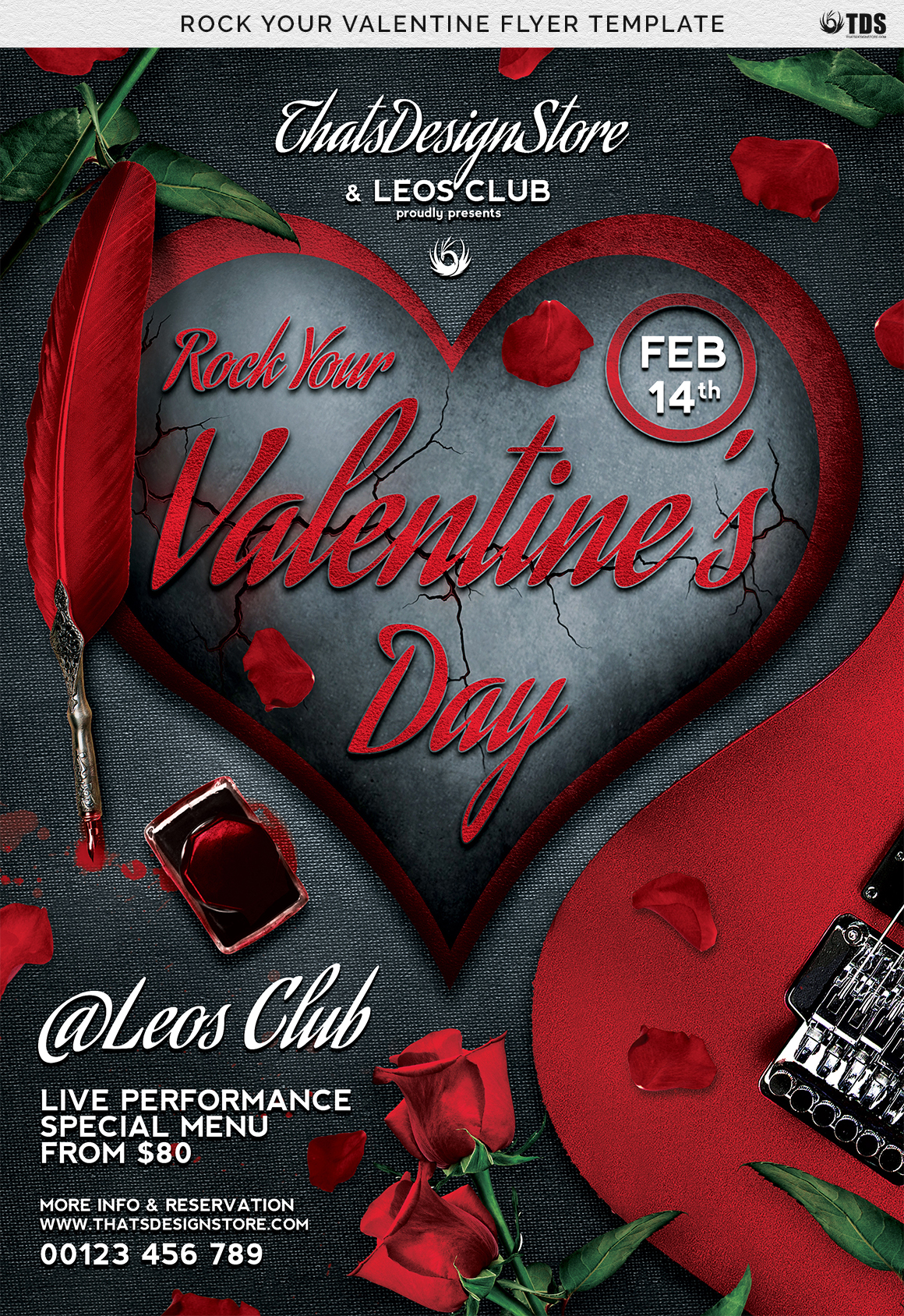 Rock Your Valentine Flyer Template example image 7