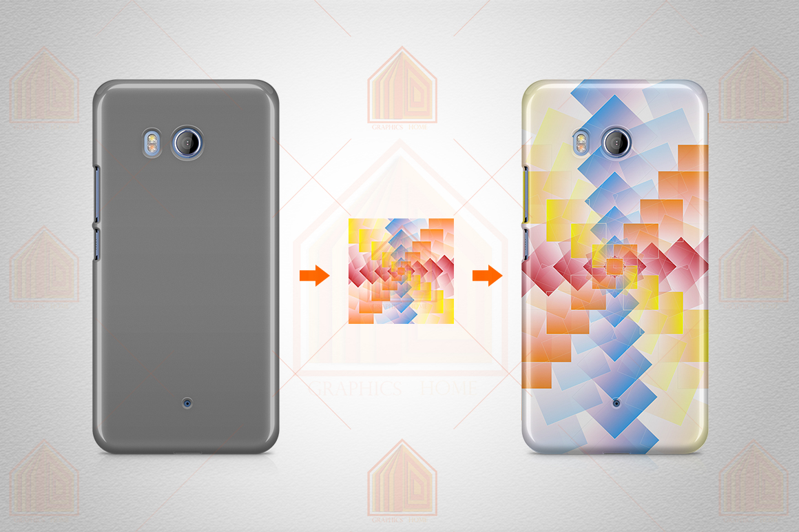 HTC U11 3dCase Design Mockup Back View example image 3