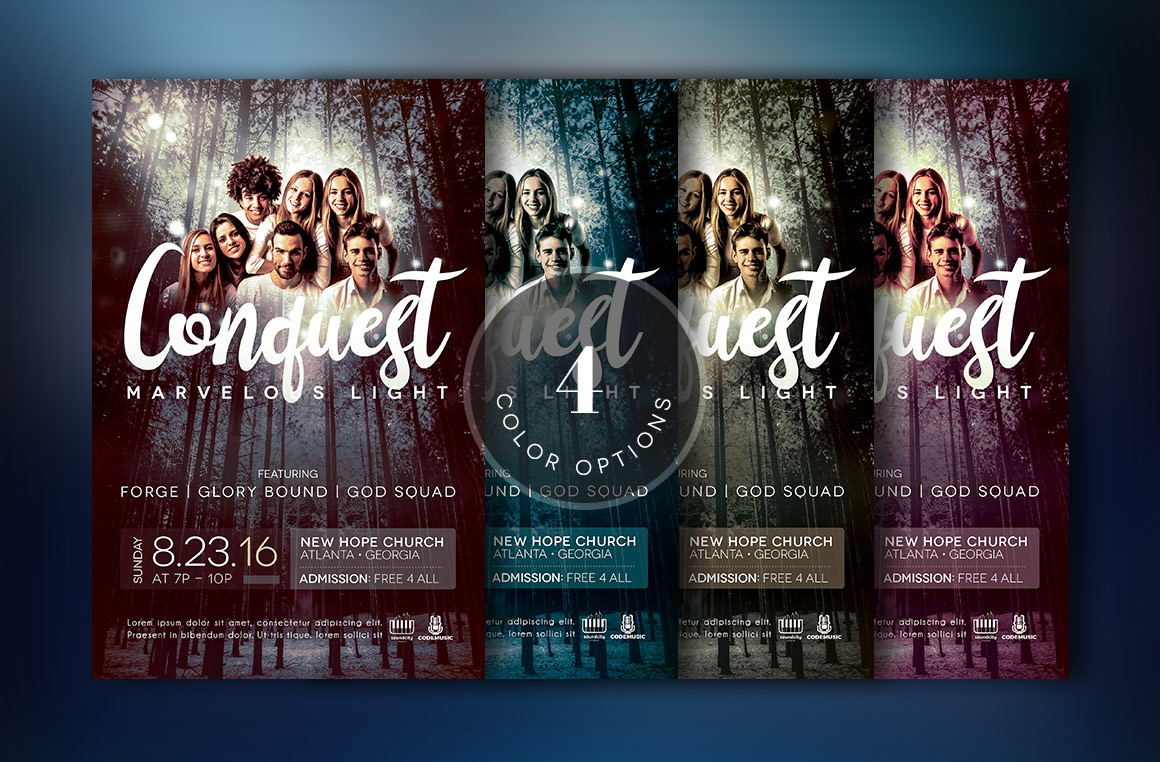 Youth Concert Flyer Template example image 4