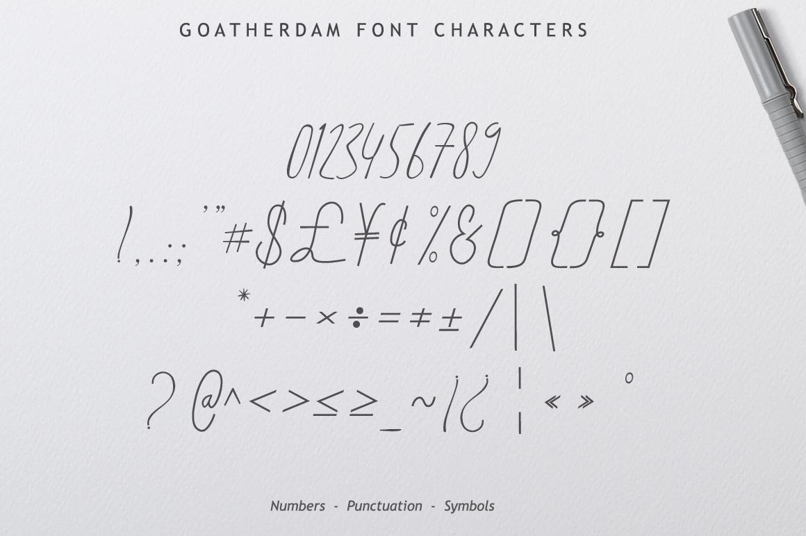 Goatherdam Font example image 11