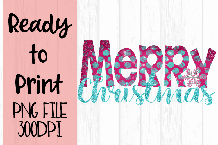 Merry Christmas Snowflake Dots Ready to Print example image 1