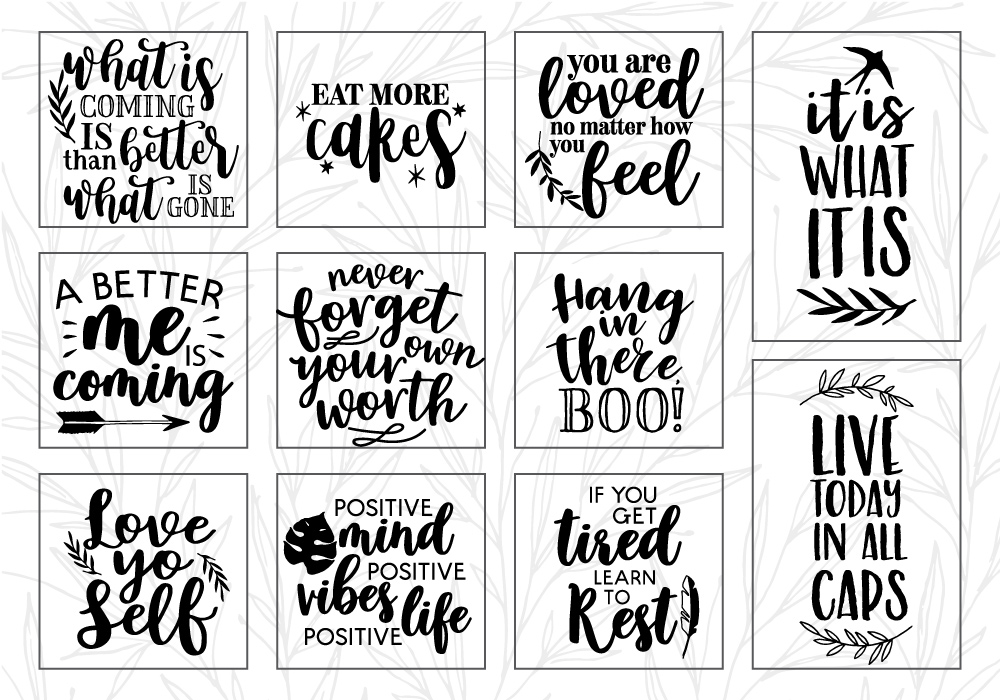 RELAX Therapeutic Quote SVG Cut File Bundle example image 2
