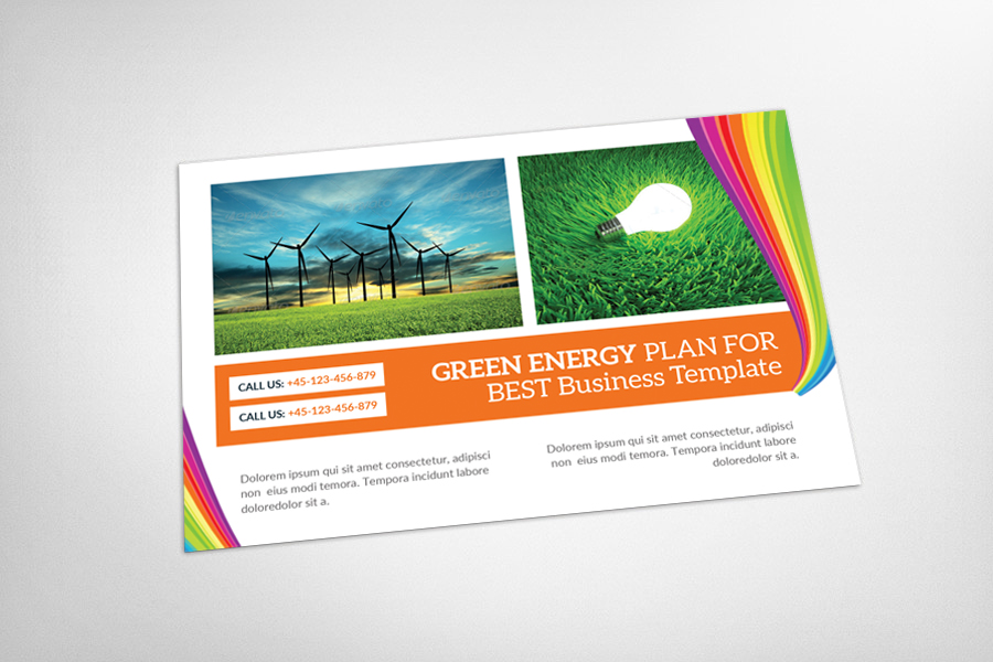 Green Energy Business Postcard example image 3