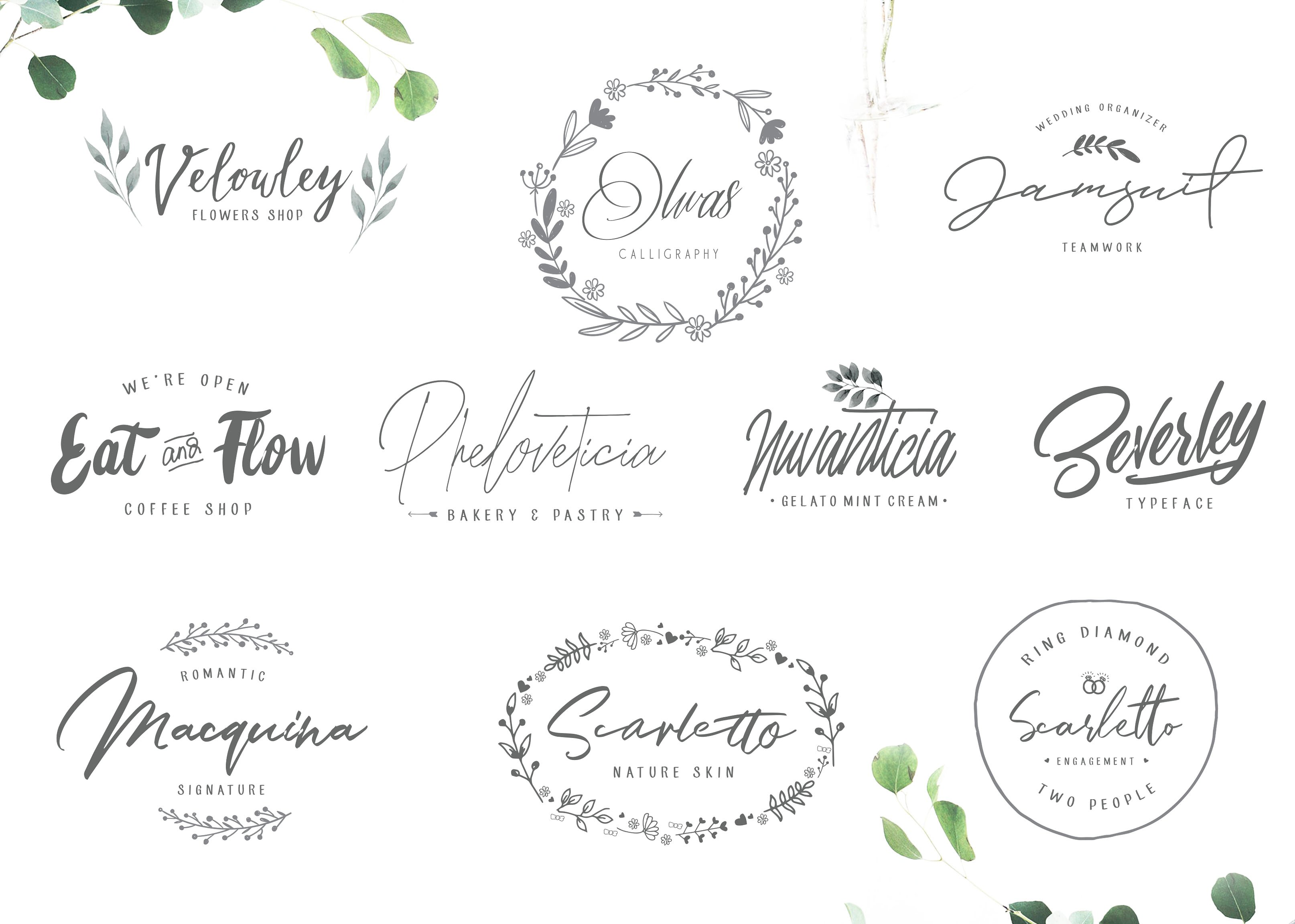 10 Font Script Collection + doodlee art example image 15