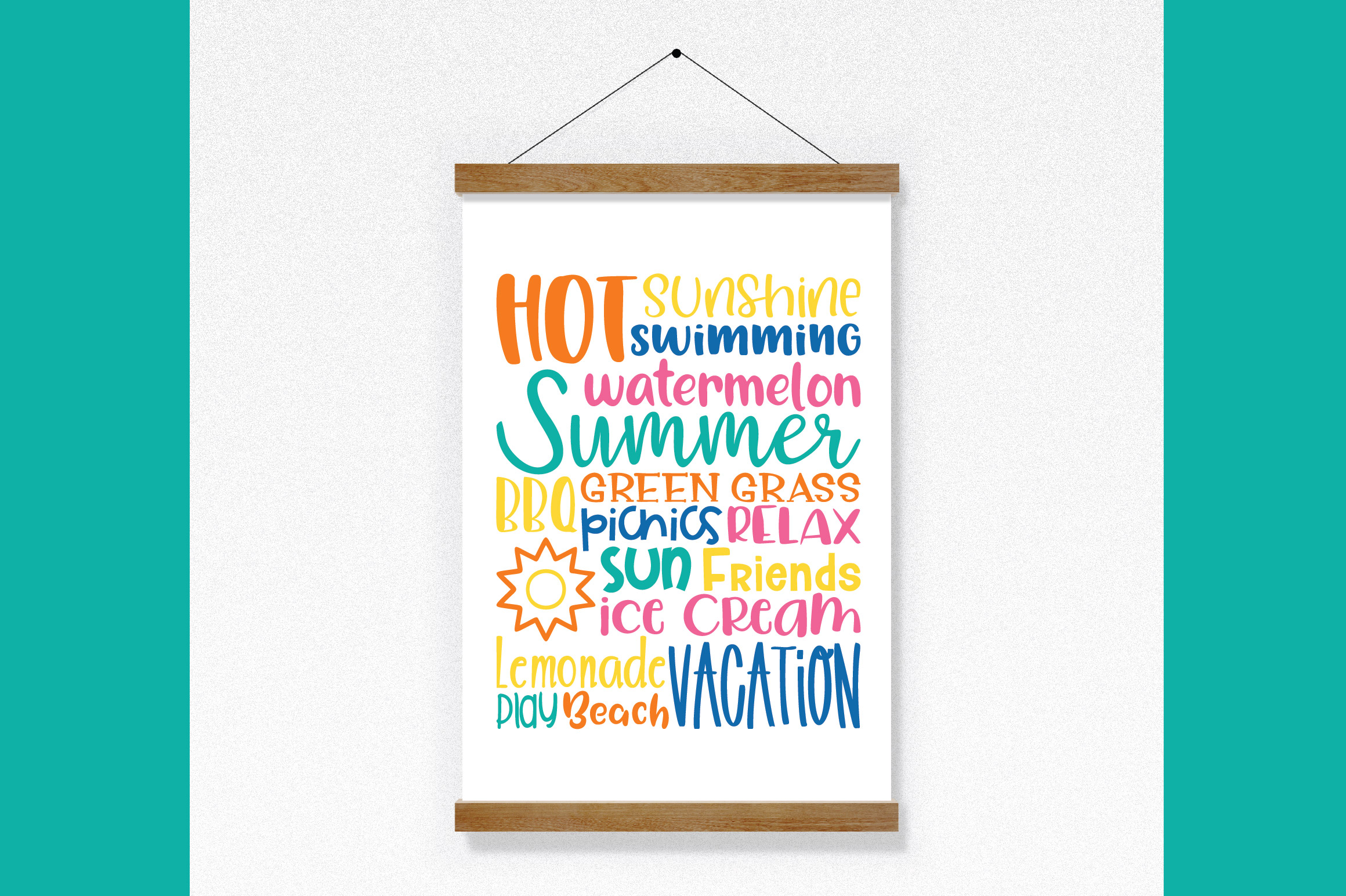 Summer Subway Art SVG Cut File example image 7