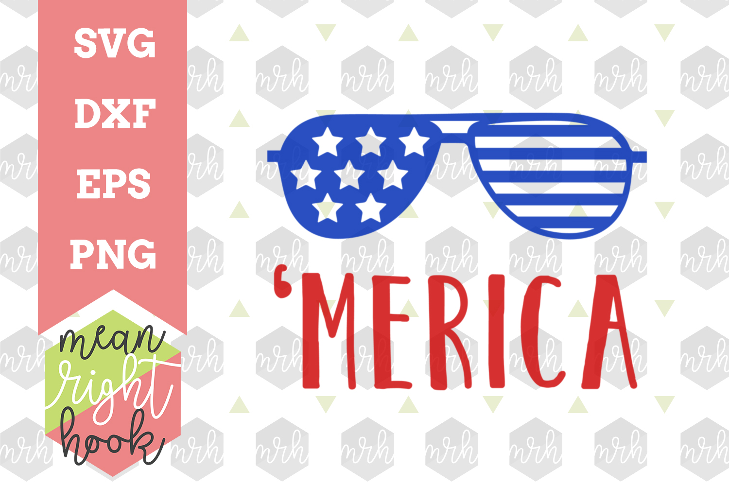 'Merica |Fourth of July Design - SVG, EPS, DXF, PNG vector files for cutting machines like the Cricut Explore & Silhouette example image 1