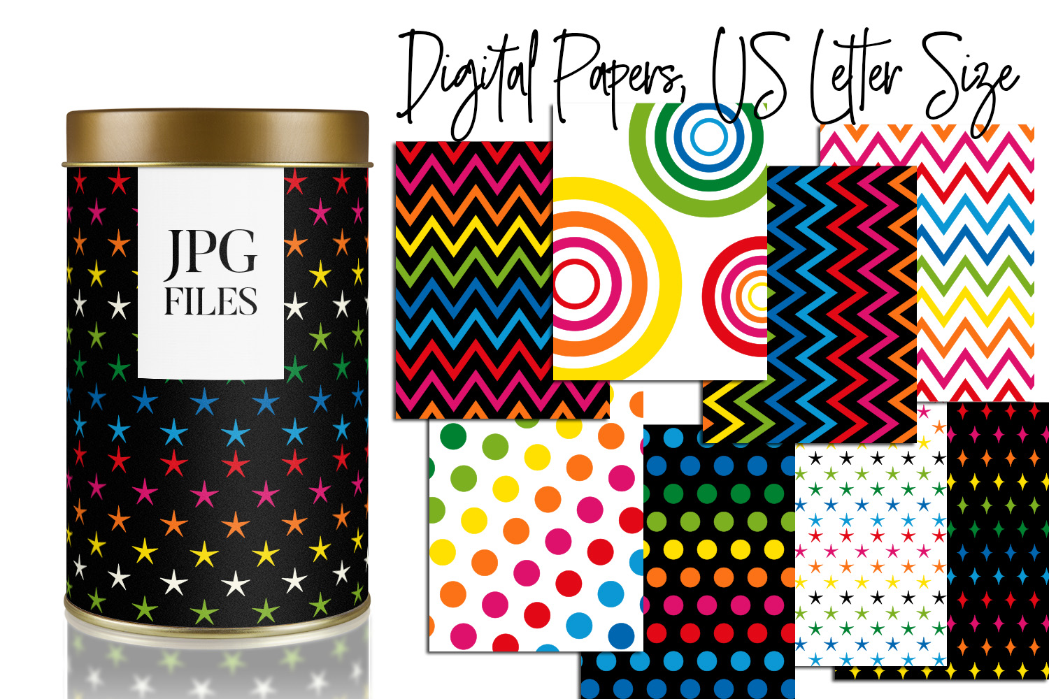 Digital Papers Bundle Vol. 2 - Background Patterns example image 18
