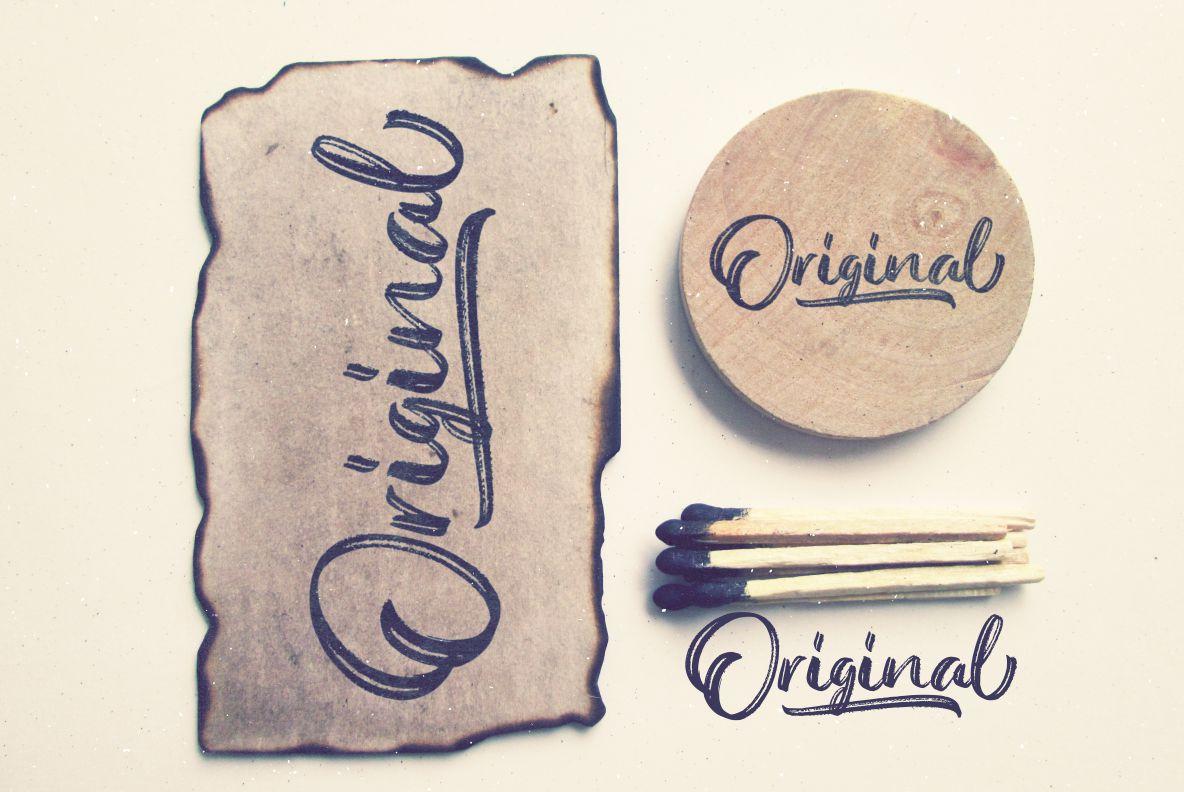 Austellia - Handbrush Font example image 3