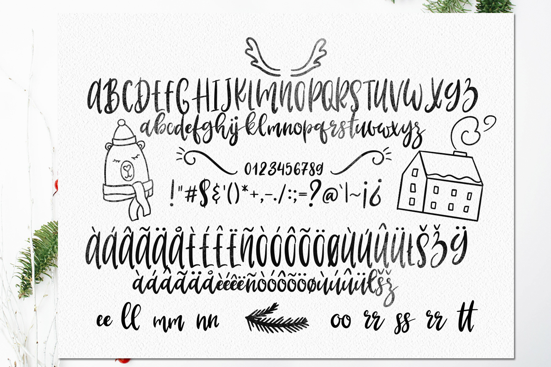 LaLaLapland. Christmas Fonts collection & illustrations example image 13