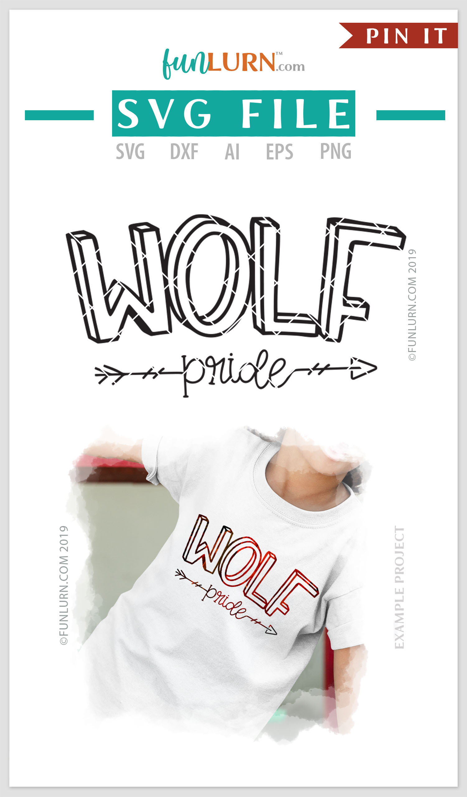 Wolf Pride Team SVG Cut File example image 4