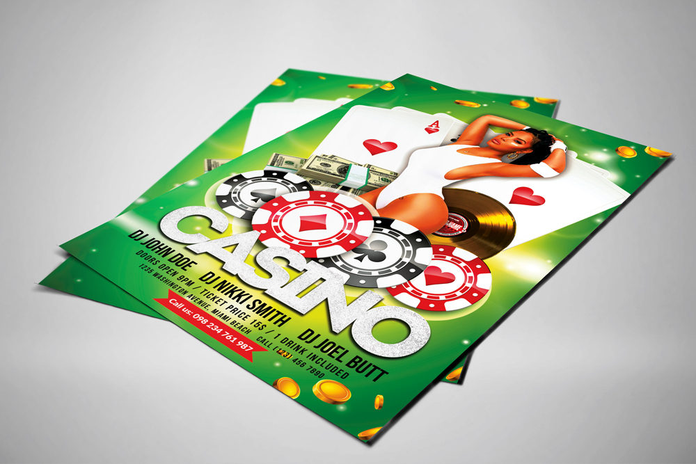 Casino Flyer Template example image 2