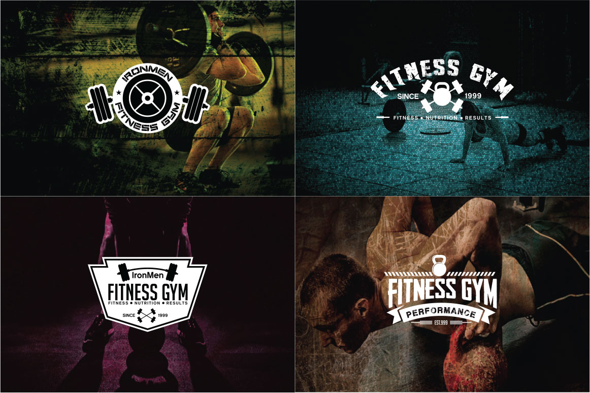83 fitness gym bundle Logos Labels & Badges example image 4
