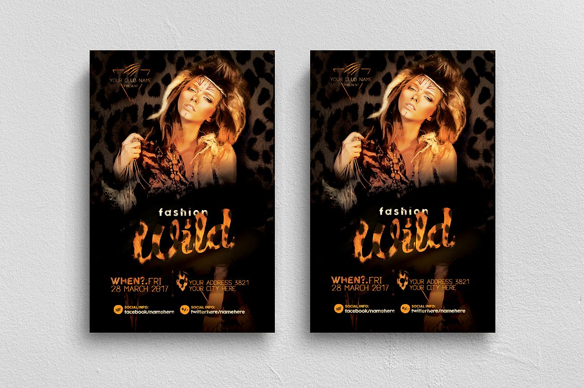 Fashion Wild Flyer Template example image 1