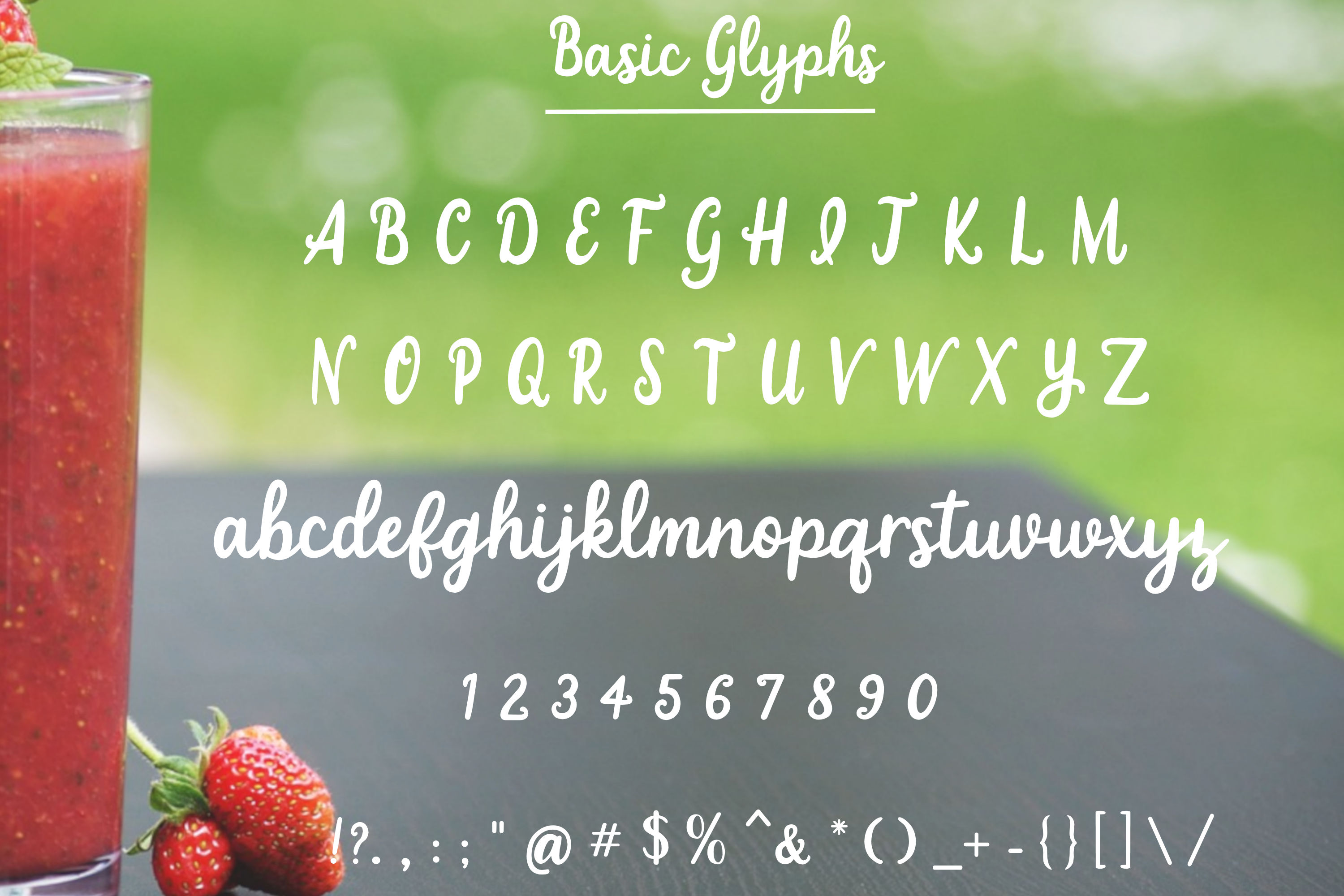 Strawberry Smoothie- A handlettered script font example image 2