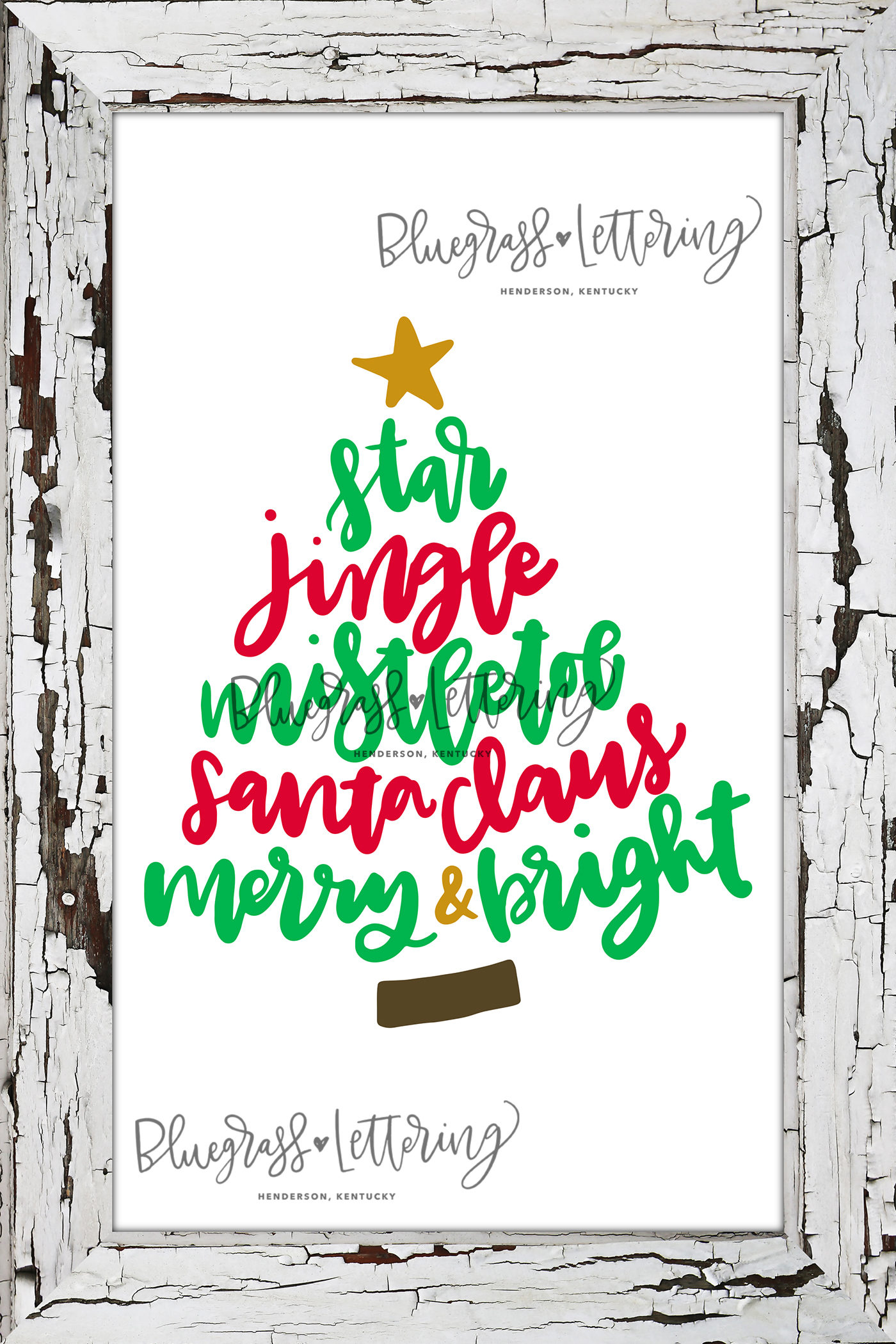 Handlettered Christmas SVG Pack example image 3