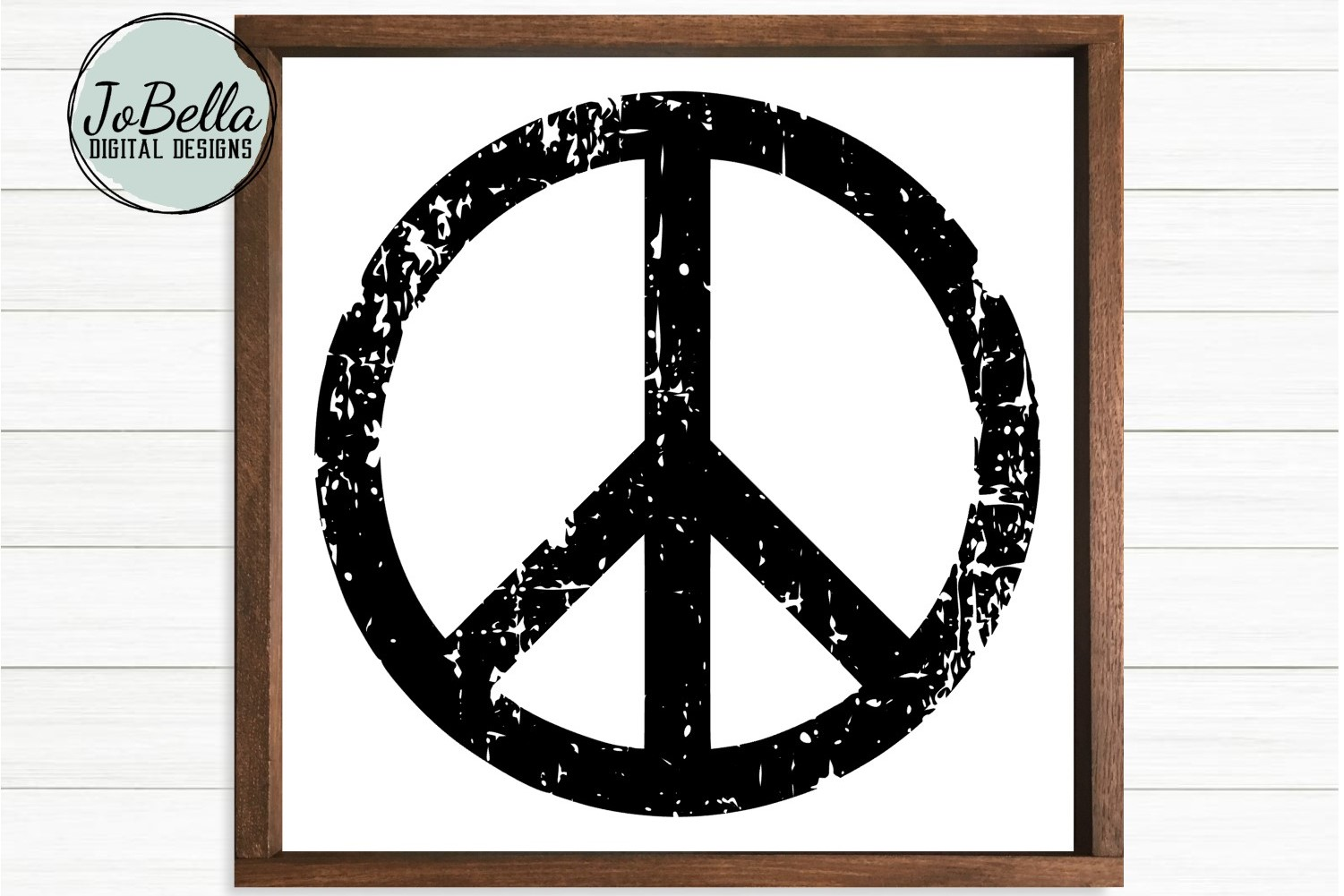 Distressed Peace Sign SVG, Sublimation PNG and Printable example image 2