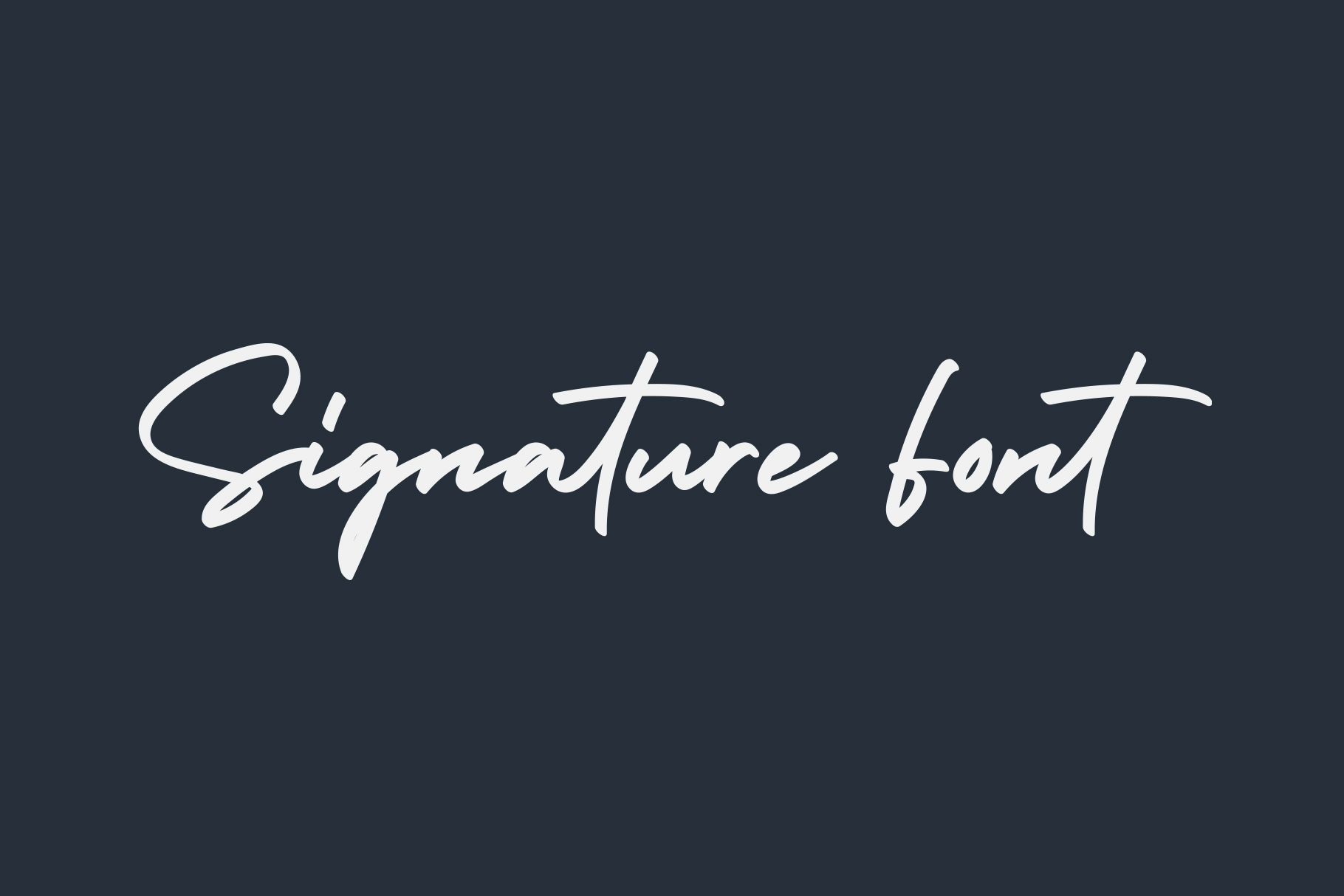 Holiday - Bold Signature Font example image 2