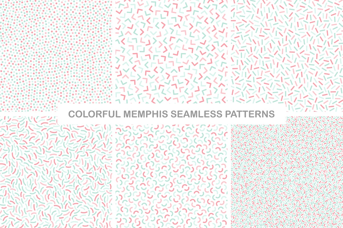 Delicate colorful seamless patterns example image 4