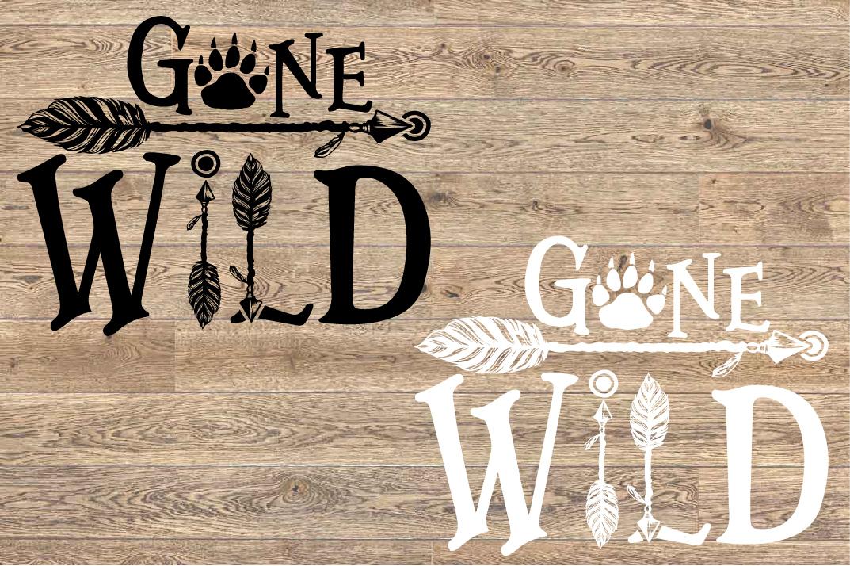 Gone Wild SVG Bear Paw Arrow Stay One Birthday baby 1533s example image 2