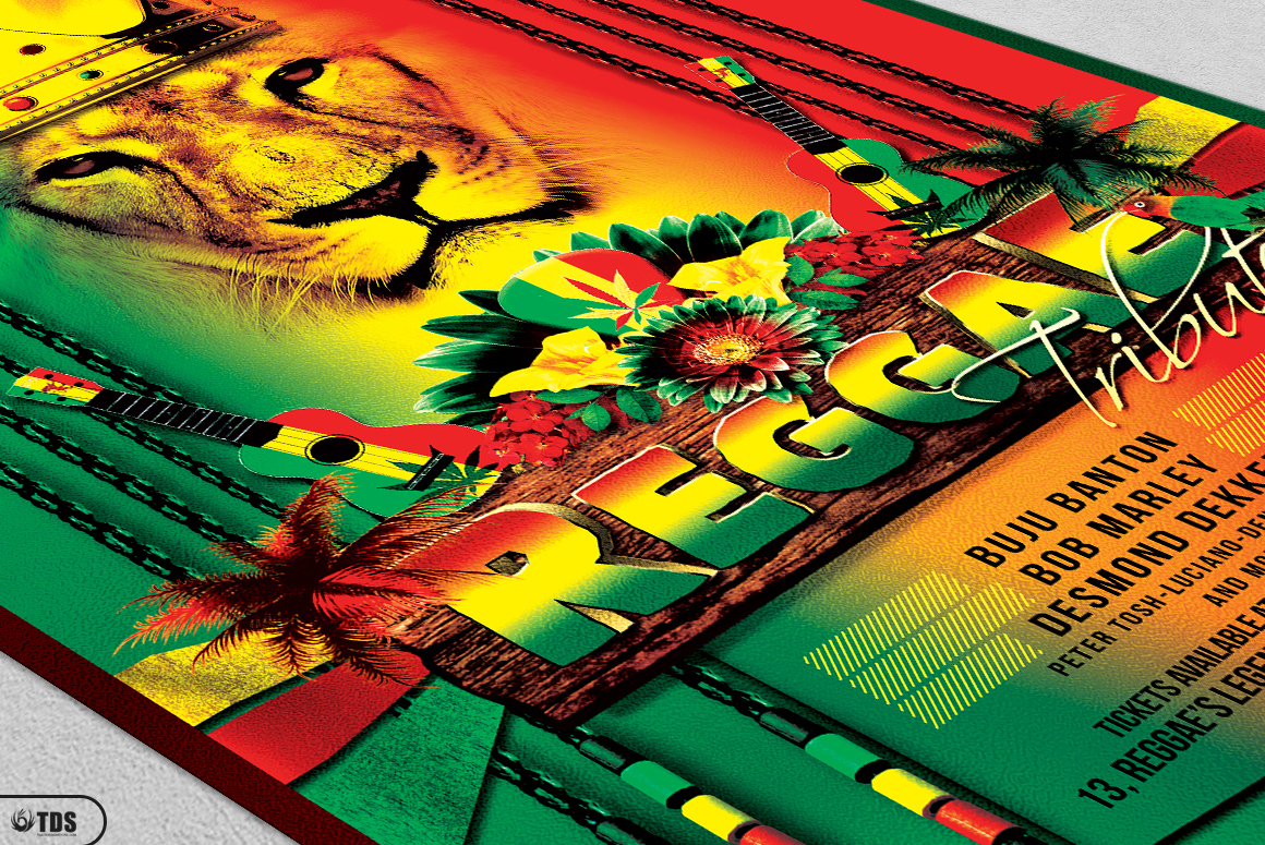 Reggae Flyer Bundle example image 10