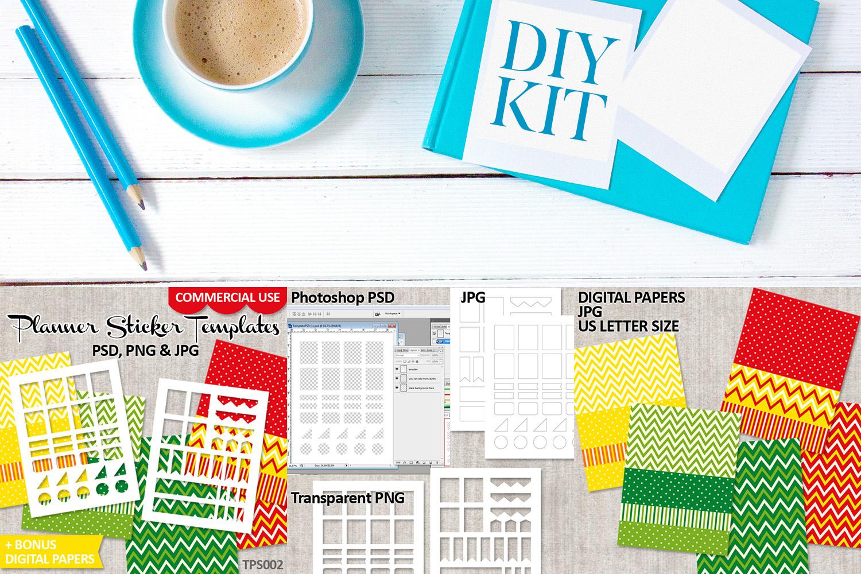 Templates Bundle Vol. 1 - Planner Stickers Digital DIY Kit example image 4