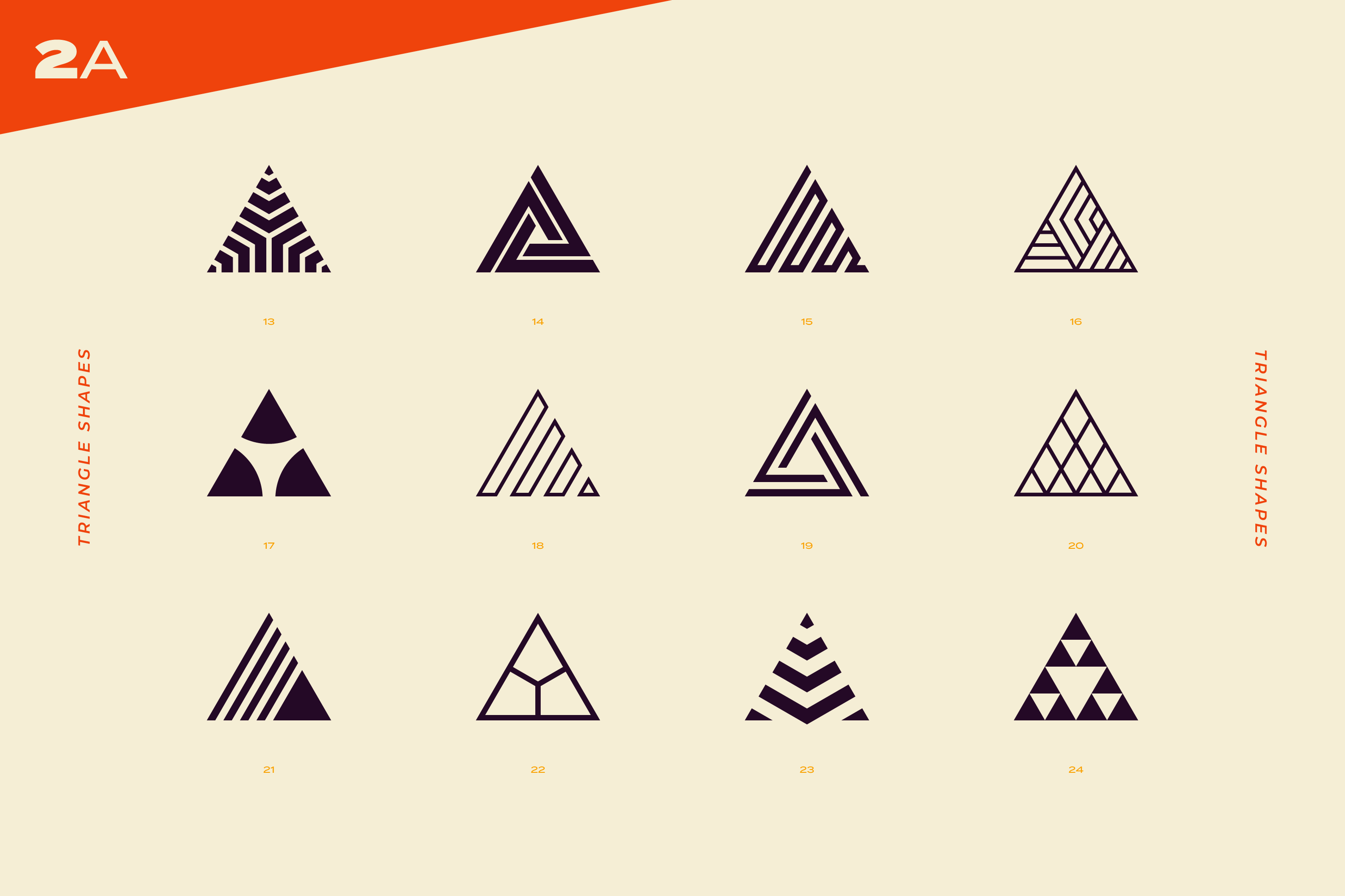 96 Abstract logo marks & geometric shapes collection example image 6