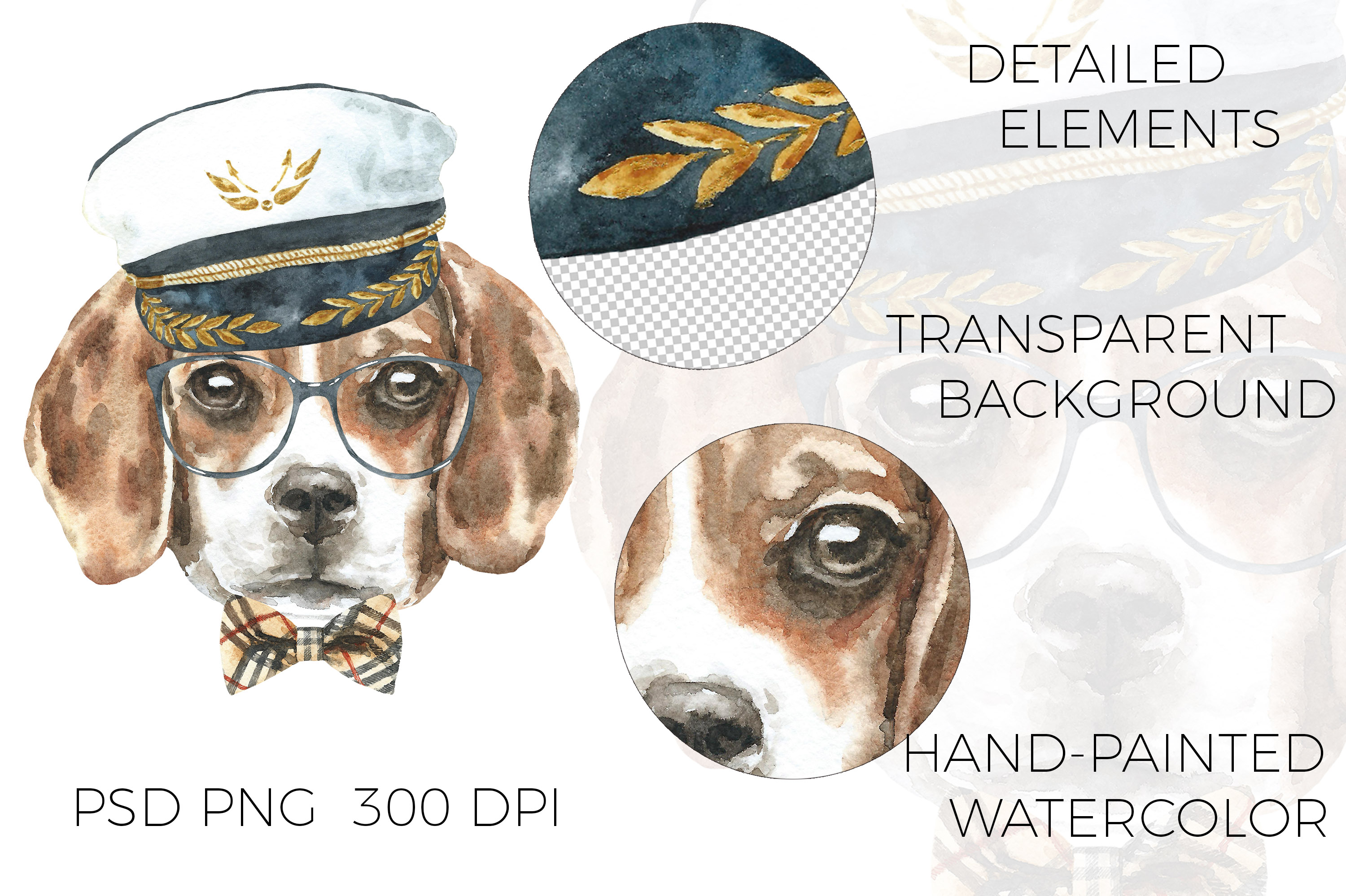 Watercolor Dogs. Animal creator. example image 9