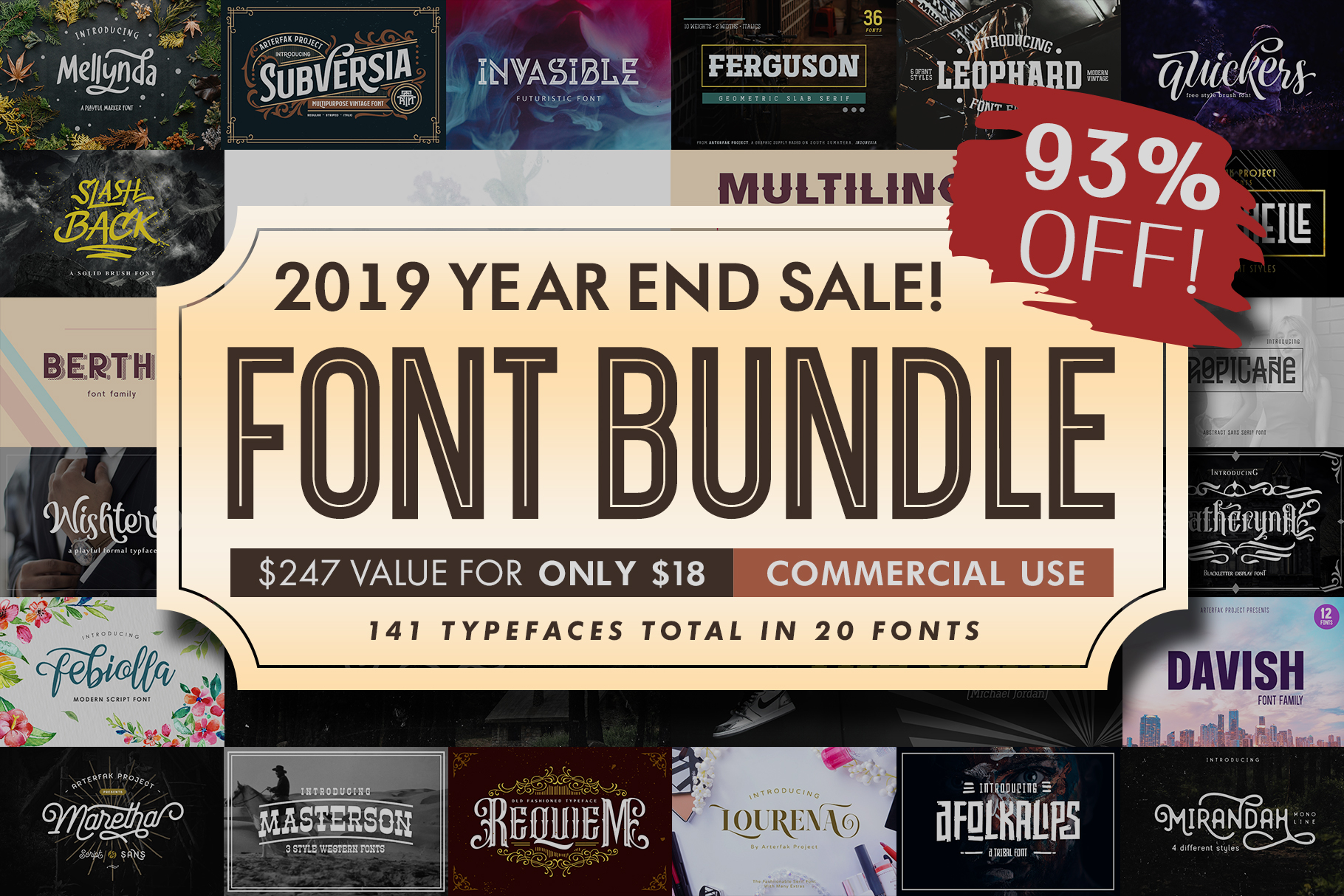 Font Bundle 2019| Year End Sale! example image 1