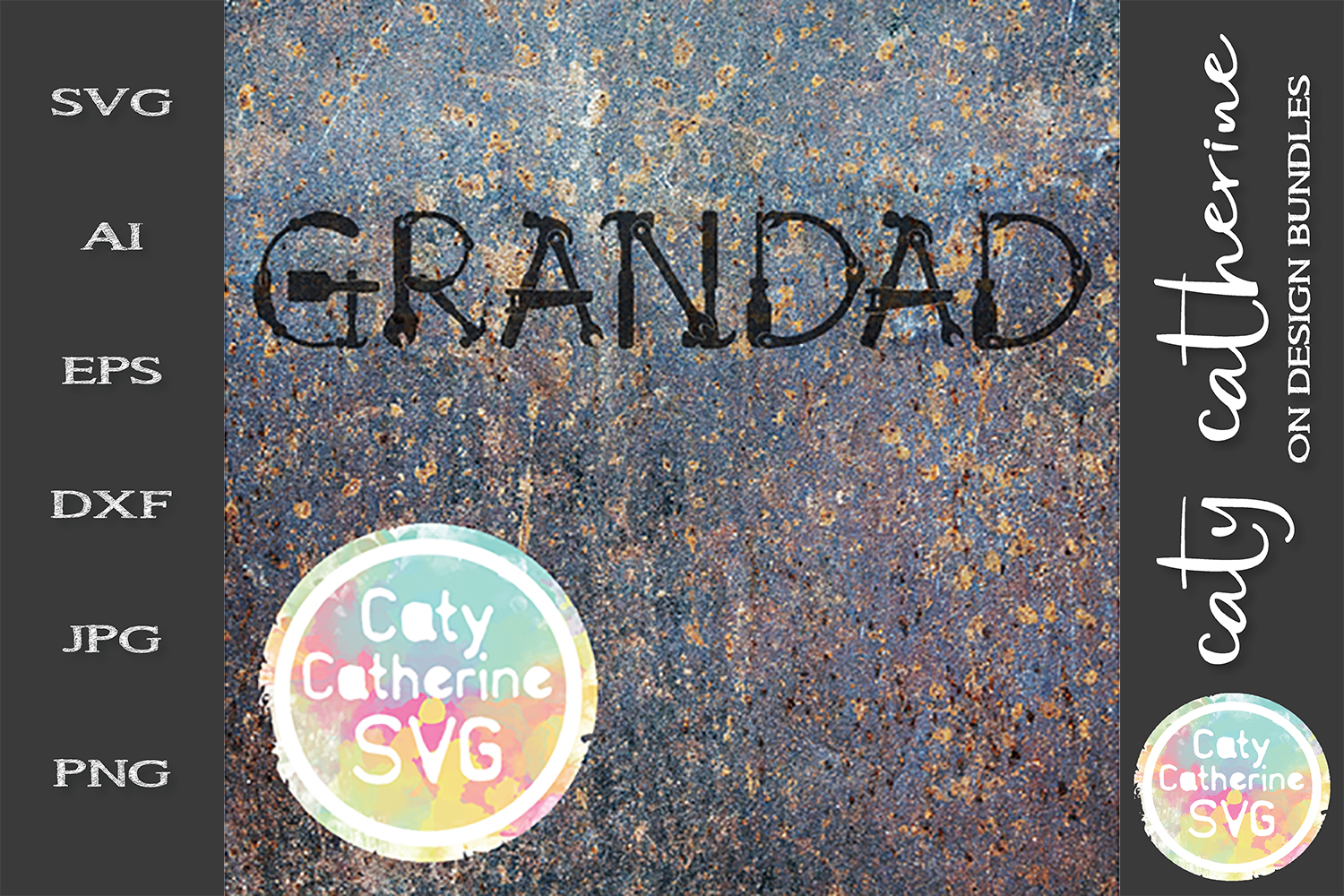Grandad Father's Day Tool Theme SVG Cut File example image 1