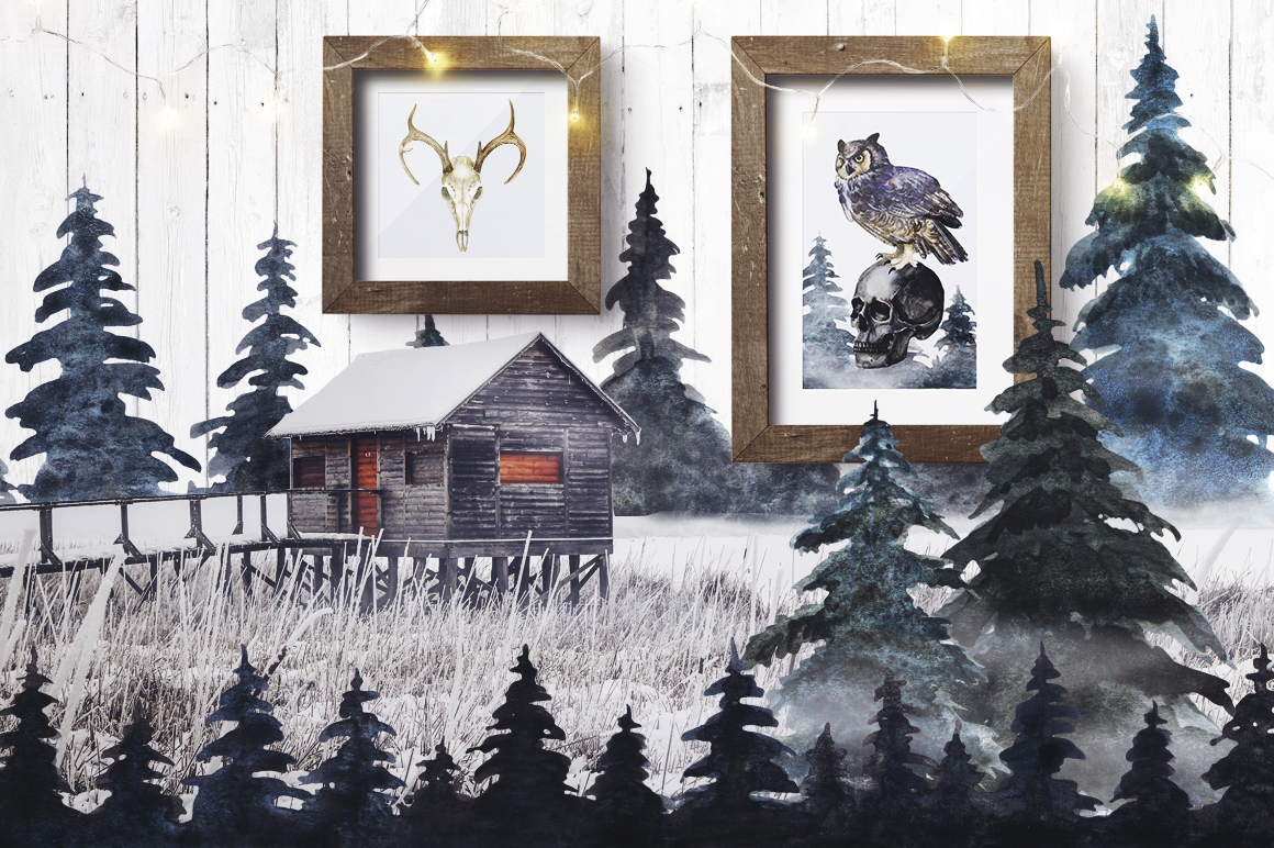 Watercolor Witchy Winter example image 3