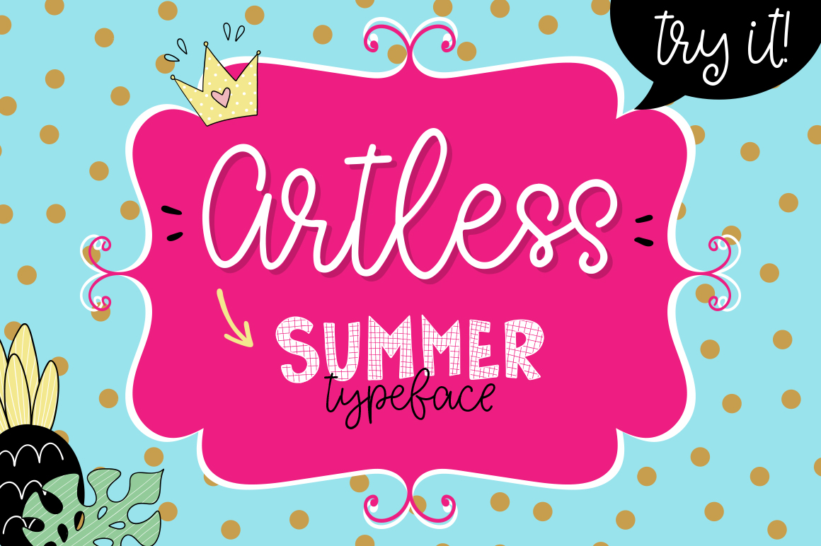 Artless Typeface - Summer Font example image 1